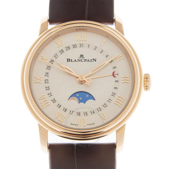 Blancpain Villeret Quantieme Phases de Lune Automatic White Dial Ladies Watch 6126-3642-55A | Joma Shop