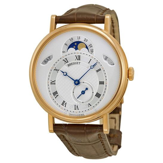 Breguet Classique Silver Dial Brown Leather Strap Men's Watch 7337BR1E9V6 | Joma Shop