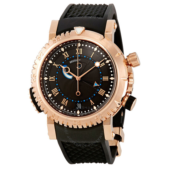 Breguet Marine Royal Black Dial Rubber Men's Watch 5847BRZ25ZV | Joma Shop