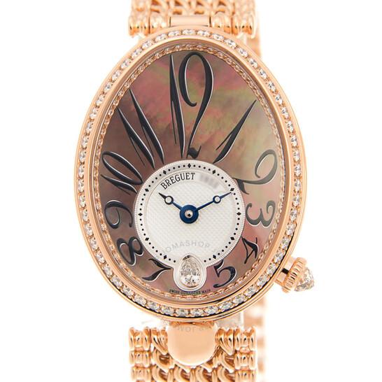 Breguet Reine de Naples Automatic Diamond Ladies Watch 8918BR/5T/J20.D000   Joma Shop