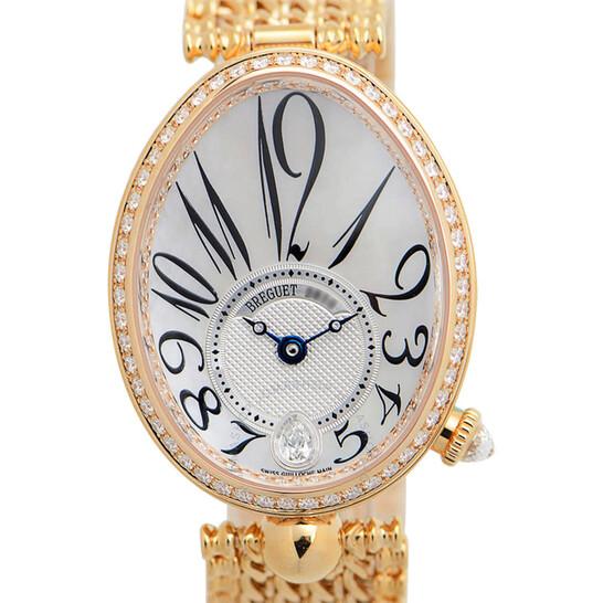 Breguet Reine de Naples Mother of Pearl 18kt Rose Gold Ladies Diamond Watch 8918BR58J20D000   Joma Shop