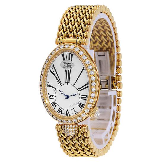 Breguet Reine de Naples Mother of Pearl 18kt Yellow Gold Diamond Ladies Watch 8928BA51J20DD00 | Joma Shop