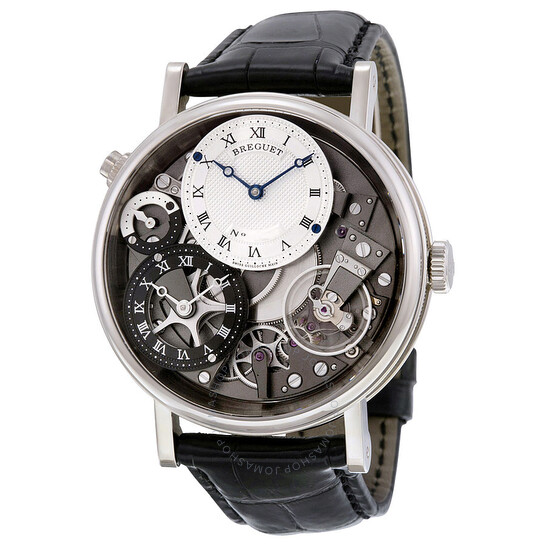 Breguet Tradition 18kt White Gold GMT Manual Silver Skeleton Dial Men's Watch 7067BB/G1/9W6   Joma Shop