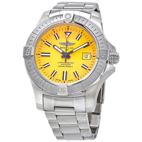 Breitling Avenger Seawolf Automatic Chronometer Yellow Dial Men's Watch A17319101I1A1 | Joma Shop