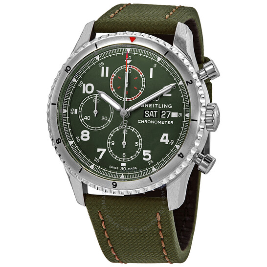 Breitling Aviator 8 Curtiss Warhawk Chronograph Automatic Green Dial Men's Watch A133161A1L1X1   Joma Shop