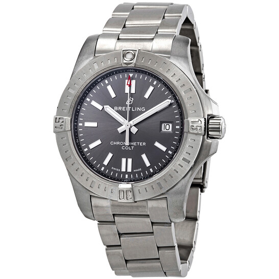 Breitling Chronomat Colt Automatic Chronometer Tempest Gray Dial Men's Watch A17313101F1A1 | Joma Shop