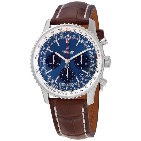 Breitling Navitimer 1 Chronograph Automatic Chronometer Blue Dial Men's Watch AB0121211C1P2 | Joma Shop