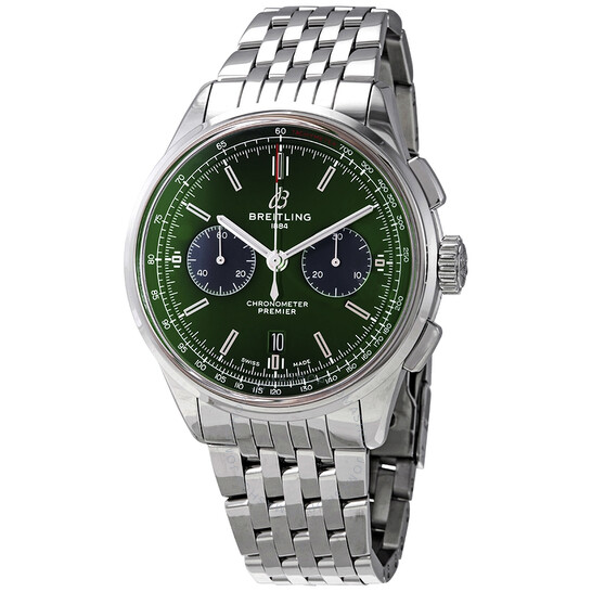 Breitling Premier Bentley Chronograph Automatic Green Dial Men's Watch AB0118A11L1A1 | Joma Shop