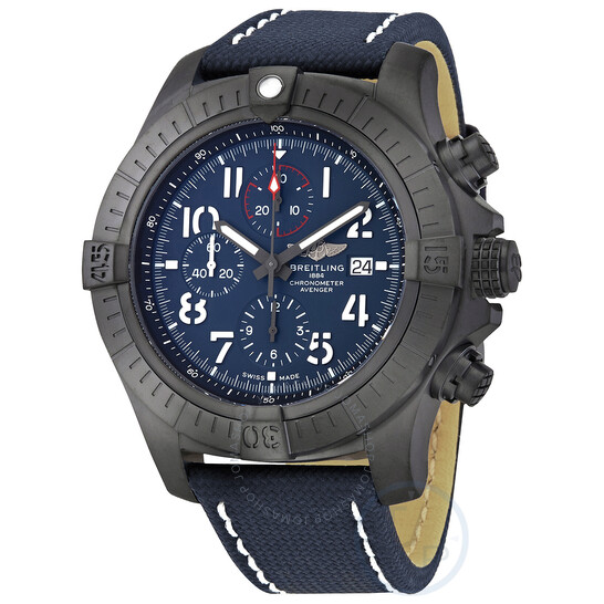 Breitling Super Avenger Chronograph 48 Night Mission Automatic Blue Dial Men's Watch V13375101C1X1   Joma Shop