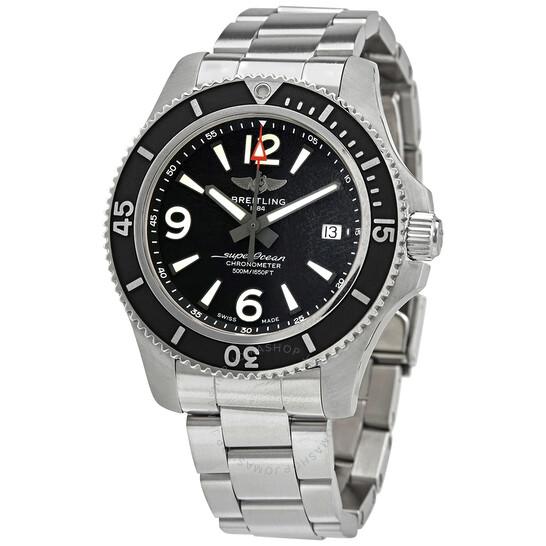 Breitling Superocean Automatic Chronometer Black Dial 42 mm Men's Watch A17366021B1A1   Joma Shop