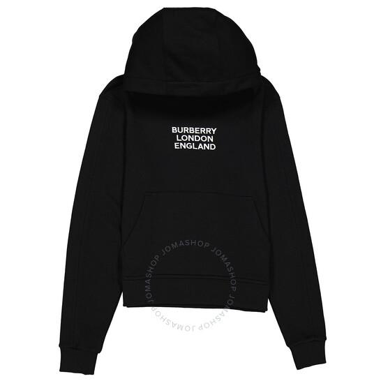 Burberry Black Drawstring Hoodie, Brand Size XX-Small | Joma Shop