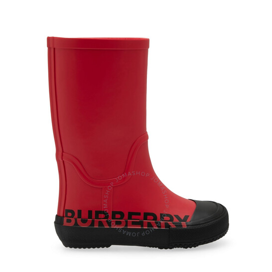 Burberry Kids Hurston Logo Rubber Rain Boots