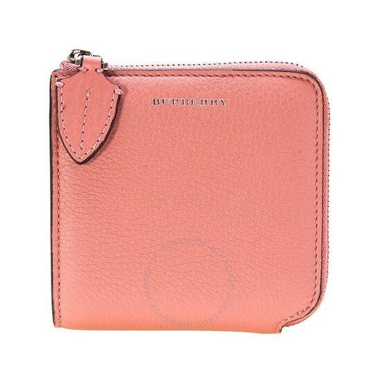 Burberry Ladies Supple/Goat Leather Dusty Pink Small Zips Wallet