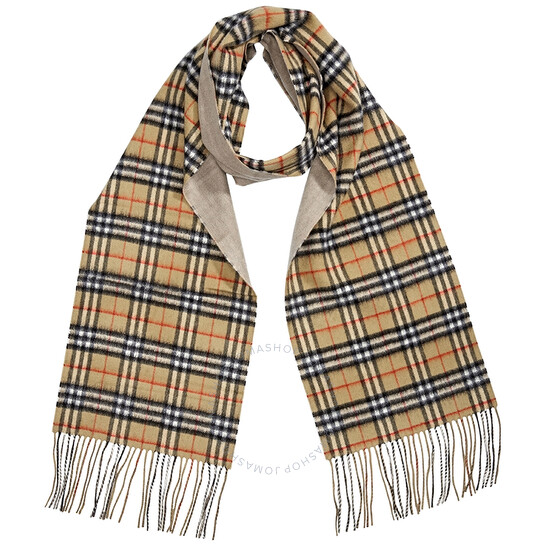 Burberry Long Reversible Vintage Check Scarf | Joma Shop