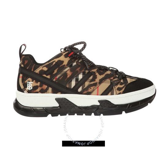 Burberry Mens Leopard Print Union Sneakers