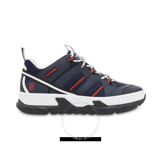 Burberry Mens Leather And Mesh Union Sneakers