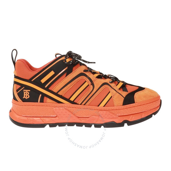 Burberry Mens Union Low-top Sneakers In Orange
