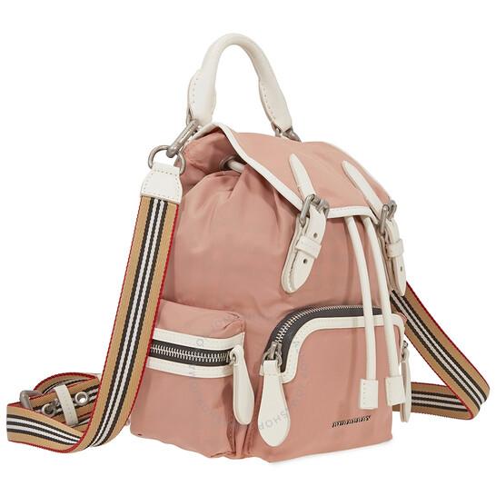 Small pink rucksack