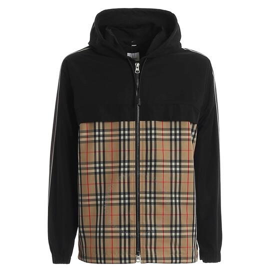 Burberry Vintage Check Panel Shape-memory Taffeta Hooded Jacket