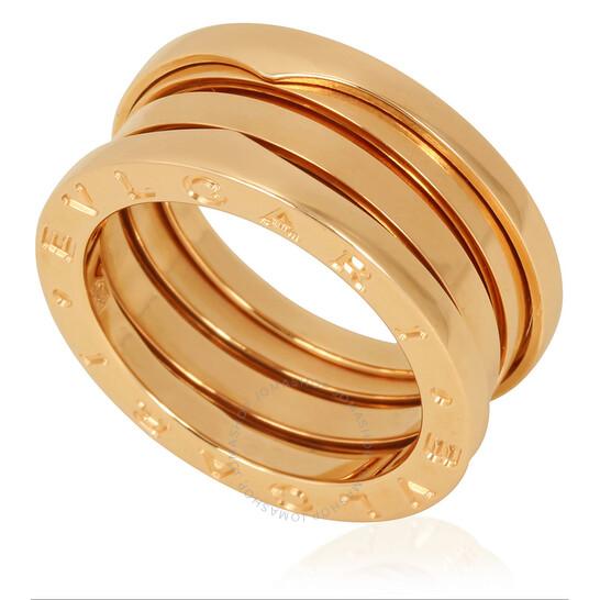 Bvlgari B.Zero1 18K Rose Gold 3-Band Ring, Size 56 (US Size 7.75) | Joma Shop