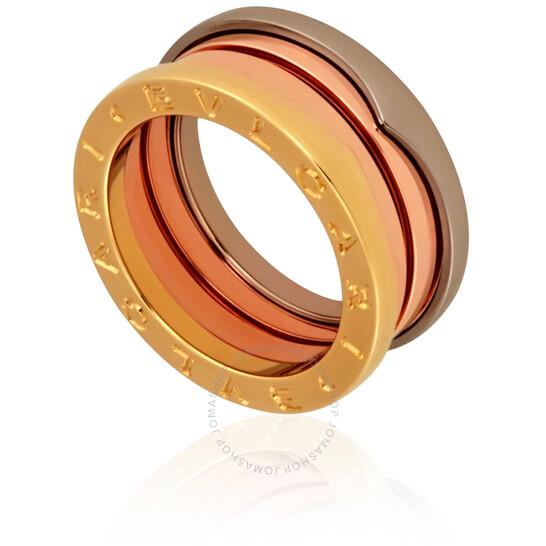 Bvlgari B.Zero1 18K Rose, White, and Yellow Gold 3-Band Ring, Brand Size 62 | Joma Shop