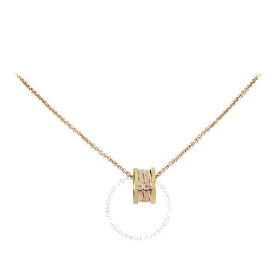 Bvlgari B.Zero1 18K Yellow and Pink Gold Necklace 352397 | Joma Shop