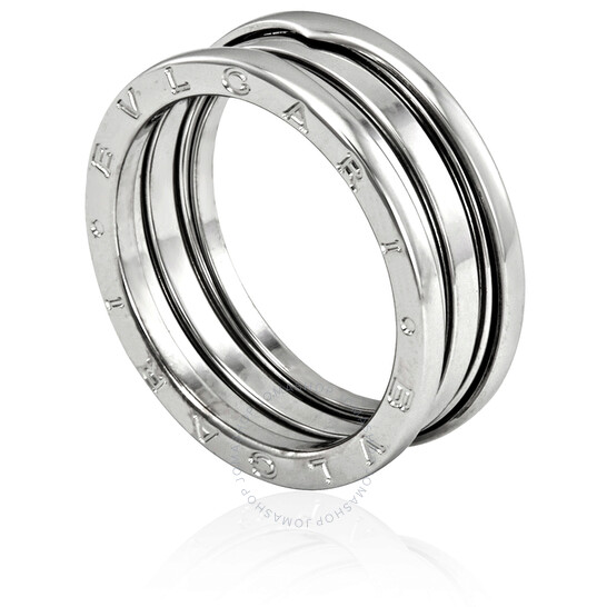 Bvlgari B.Zero1 18K White Gold 3-Band Ring, Brand Size 64 (US Size 10.75) | Joma Shop