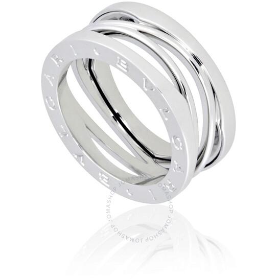 Bvlgari B.zero1 3-Band Ring In 18 Kt White Gold, Brand Size 64   Joma Shop