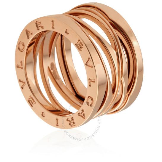 Bvlgari B.ZERO1 18kt Rose Gold Ring- 56 | Joma Shop