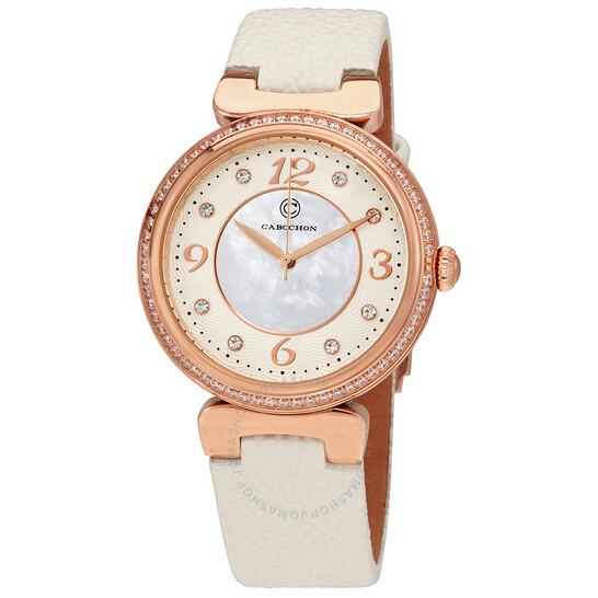 Cabochon Saga Crystal Markers Ladies Watch CABOCHON-16561-RG-02-WHS | Joma Shop