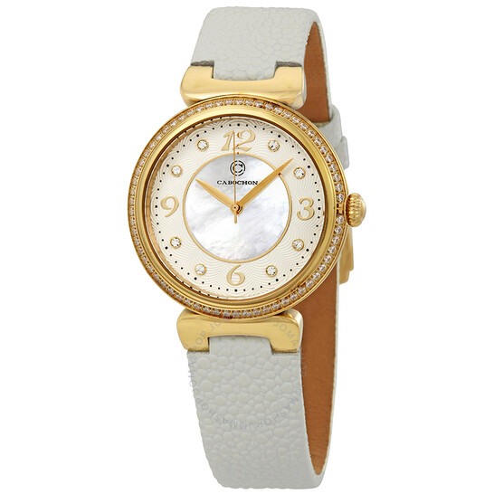 Cabochon Saga Crystal Markers Ladies Watch CABOCHON-16561-YG-02-WHS | Joma Shop
