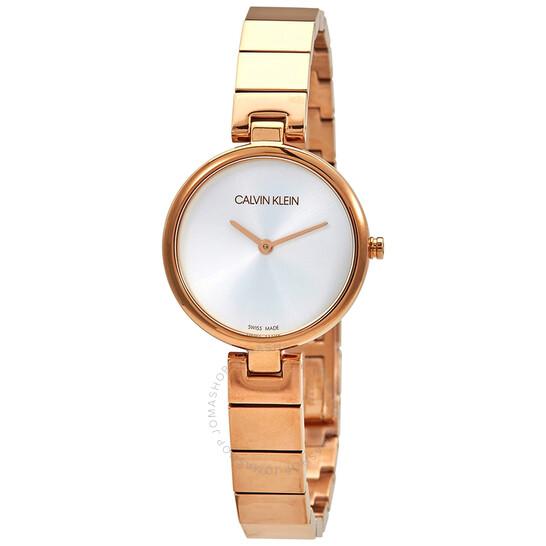 Calvin Klein Authentic Quartz Silver Dial Ladies Watch