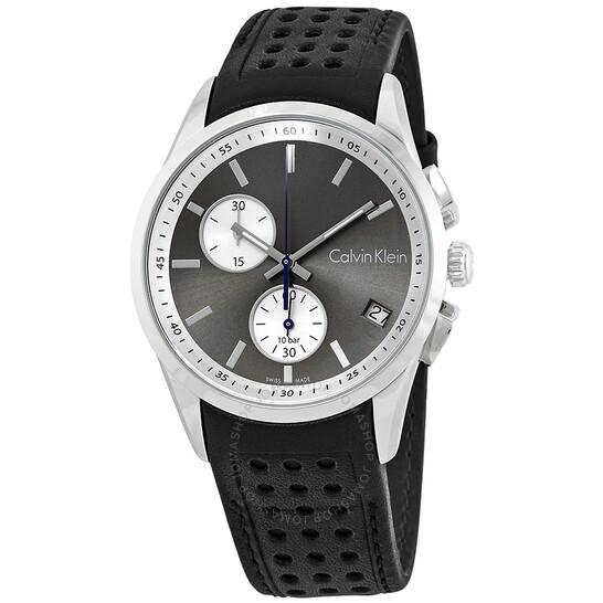 Calvin Klein Bold Chronograph Anthracite Dial Mens Watch K5A371C3
