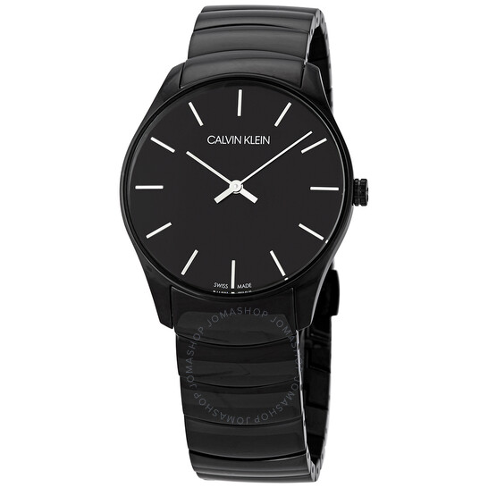 Calvin Klein Classic Too Quartz Black Dial Unisex Watch K4D21441
