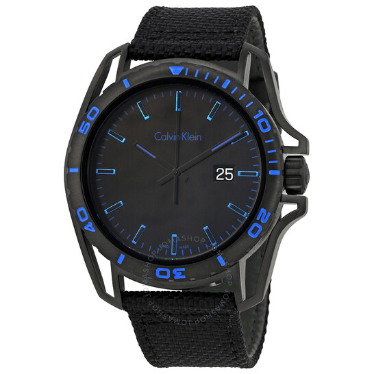 Calvin Klein Earth Black Dial Mens Watch K5Y31YB1