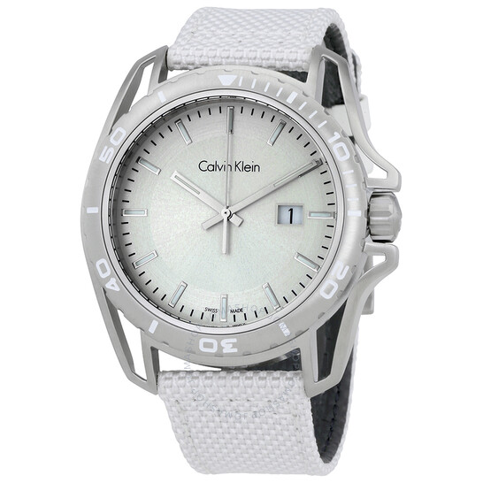Calvin Klein Earth White Dial Mens Watch K5Y31VK6