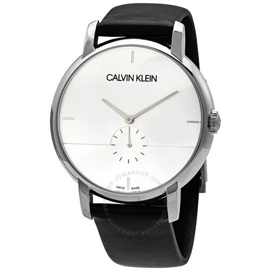 Calvin Klein Established Quartz Silver Dial Mens Watch K9H2X1C6