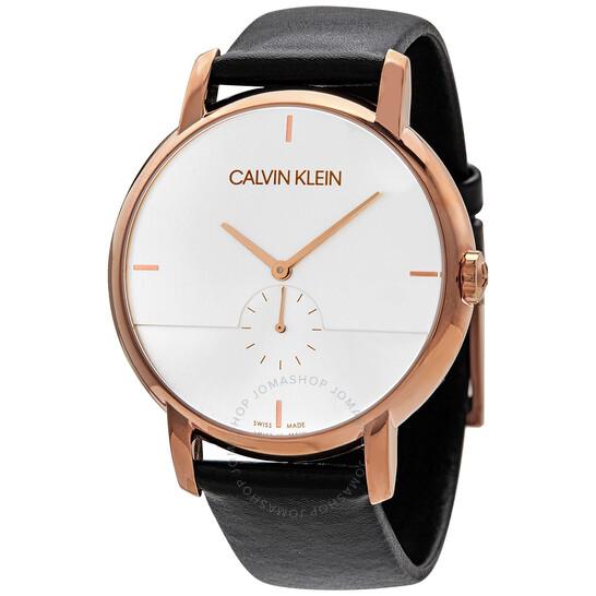 Calvin Klein Established Quartz Silver Dial Mens Watch K9H2X6C6