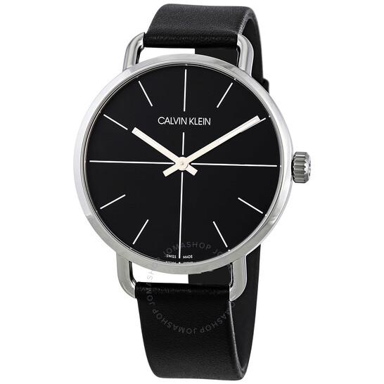 Calvin Klein Even Quartz Black Dial Mens Watch K7B211CZ