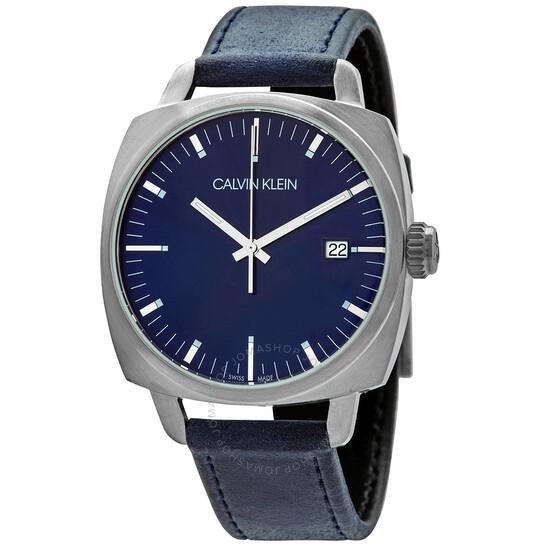 Calvin Klein Fraternity Quartz Blue Dial Mens Watch K9N111VN
