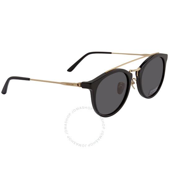 Calvin Klein Ladies Black Round Sunglasses CK18720S 1 53   Joma Shop
