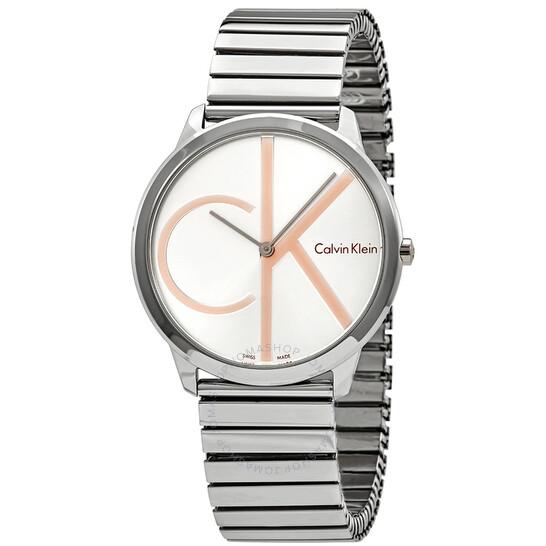 Calvin Klein Minimal Silver Dial Mens Watch K3M21BZ6