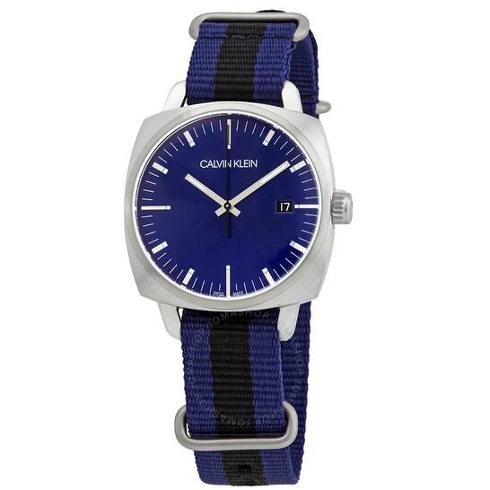 Calvin Klein Quartz Blue Dial Watch K9N111UN