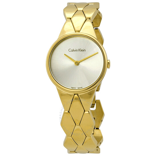 Calvin Klein Quartz Silver Dial Ladies Watch K6E23546 | Joma Shop