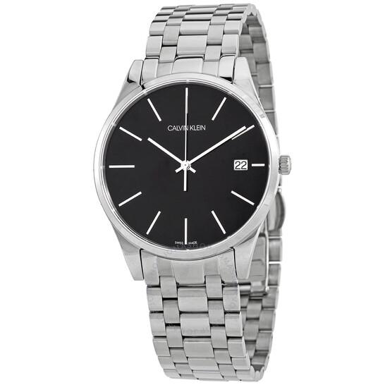 Calvin Klein Time Quartz Black Dial Mens Watch K4N21141