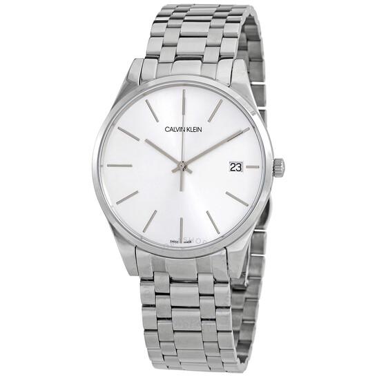Calvin Klein Time Quartz Silver Dial Mens Watch K4N21146