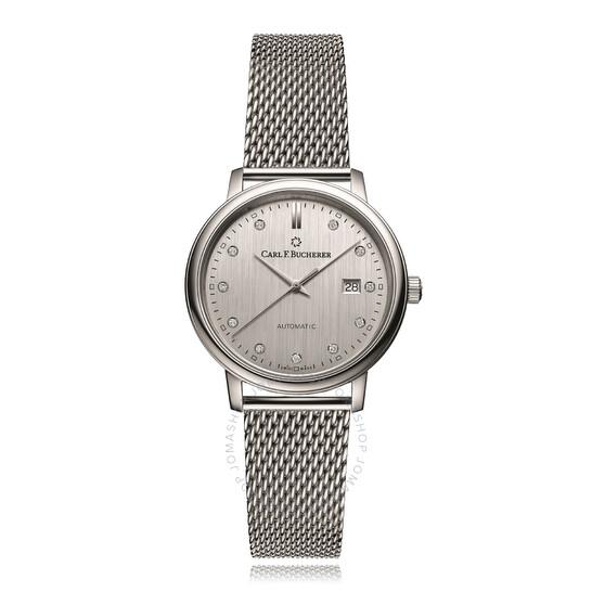 Carl F. Bucherer Adamavi Automatic Diamond Silver Dial Ladies Watch 00.10320.08.17.21 | Joma Shop