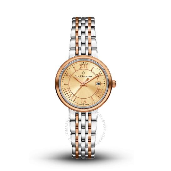 Carl F. Bucherer Adamavi Quartz Champagne Dial Ladies Watch 00.10315.07.45.21   Joma Shop