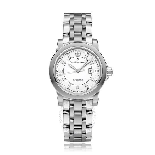 Carl F. Bucherer Patravi AutoDate Automatic White Dial Ladies Watch 00.10637.08.23.21   Joma Shop