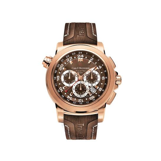 Carl F. Bucherer Patravi TravelTec Chronograph Automatic Brown Dial Men's Watch 00.10620.03.93.02 | Joma Shop